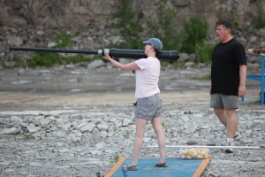 I shoot like a girl. Which is to say, with a shoulder mounted bazooka, hitting the target the first time.